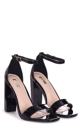 Tori Black Patent Barely There Heels by Linzi