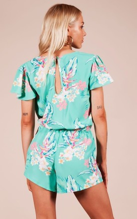 RIO PLAYSUIT IN GREEN TROPICAL by Dancing Leopard
