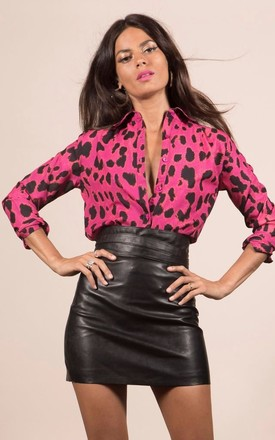 San Diego Shirt In Pink Leopard by Dancing Leopard