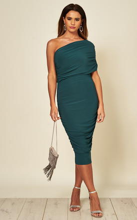 Alice One Shoulder Midi Dress In Green by Honor Gold Product photo