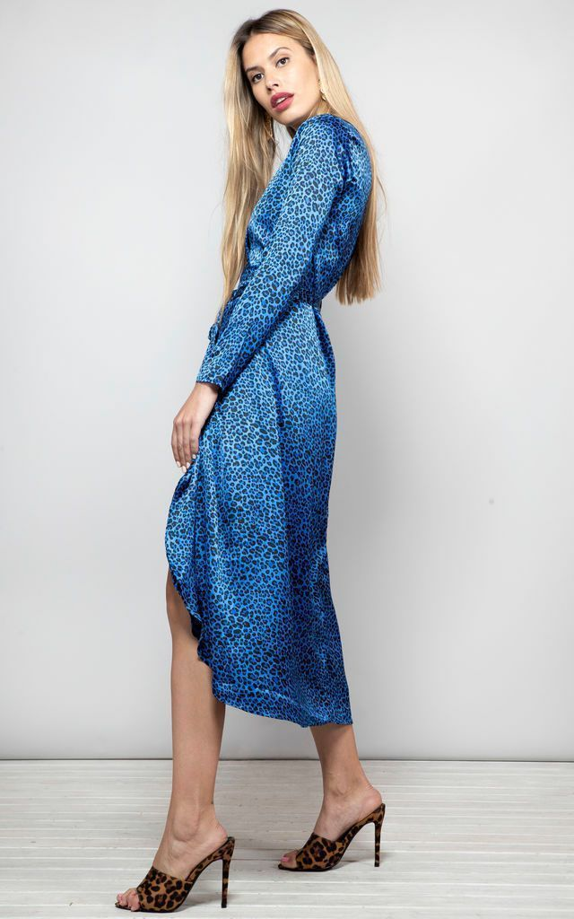 YONDAL DRESS IN BLUE DITSY by Dancing Leopard