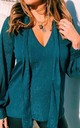 Lola Sheer Tie Neck Blouse in Forest Green by Libby Loves