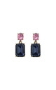 Simple gem drop earrings in blue & pink by LAST TRUE ANGEL