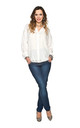 Dark Blue Slim Over Bump Maternity Jeans by Glamour Outfitters