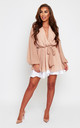 Madison Nude Polka dot Wrap Dress by SHE BY SOPHIE