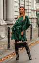 Kimono Style Oversized Dress in Green by By Ooh La La