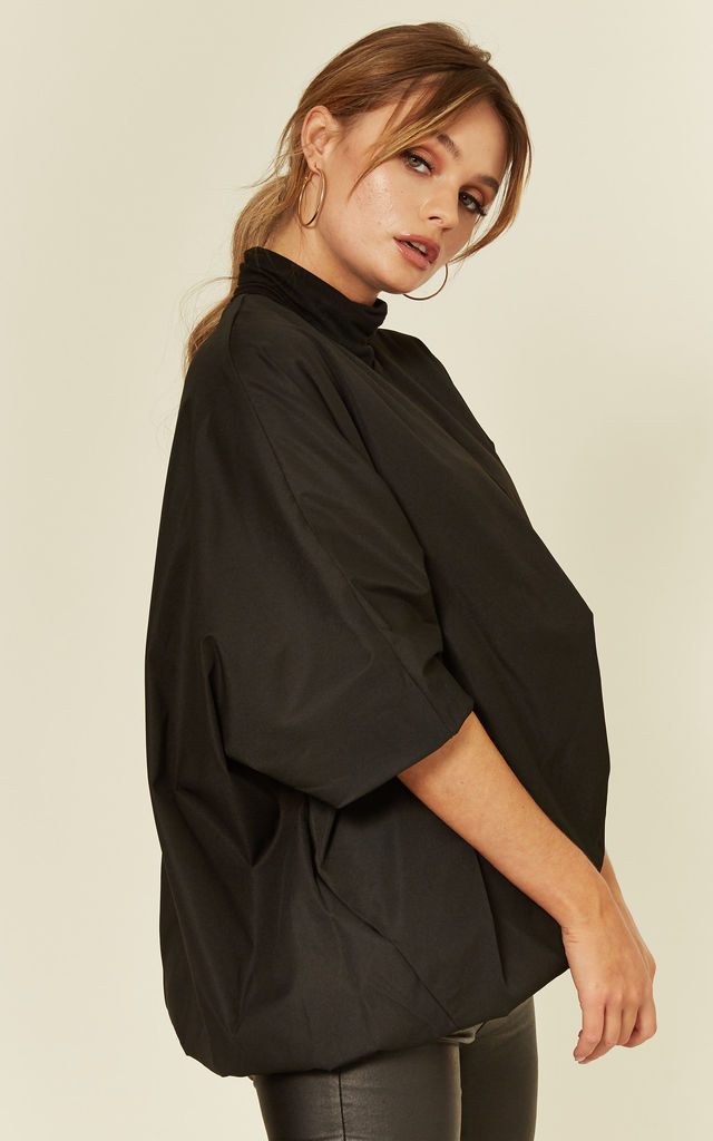 Charleen Black Balloon Jacket by Jovonna London