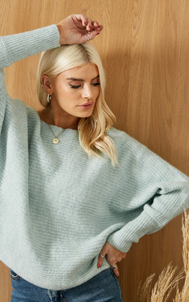 Batwing Knitted Jumper In Light Grey by ONLY