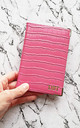 Personalised pink croc pattern passport holder by Rianna Phillips