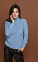 Blue Turtleneck Pullover by Si Fashion by Conquista Fashion