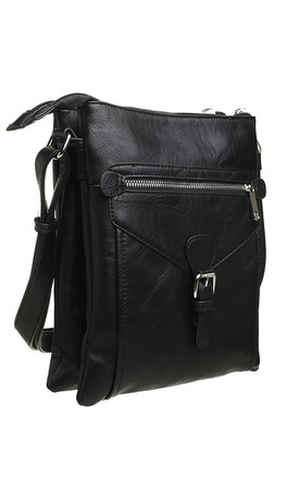 3 Pocket Messenger bag BLACK by BESSIE LONDON