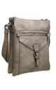 3 Pocket Messenger bag KHAKI by BESSIE LONDON