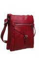 3 Pocket Messenger bag RED by BESSIE LONDON