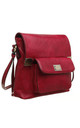 CLASSIC FLAP TOP FRONT POCKET CROSS BODY BAG RED by BESSIE LONDON