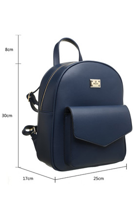 CLASSIC FLAP TOP FRONT POCKET BACKPACK by BESSIE LONDON