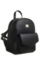 CLASSIC FLAP TOP FRONT POCKET BACKPACK BLACK by BESSIE LONDON