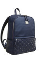 LARGE QUILTED STUDDED BACKPACK by BESSIE LONDON