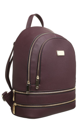 ZIP FEATURED DOUBLE POCKET BACKPACK by BESSIE LONDON