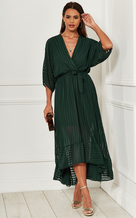 Forest Green Plunge Maxi Dress by Bella and Blue Product photo