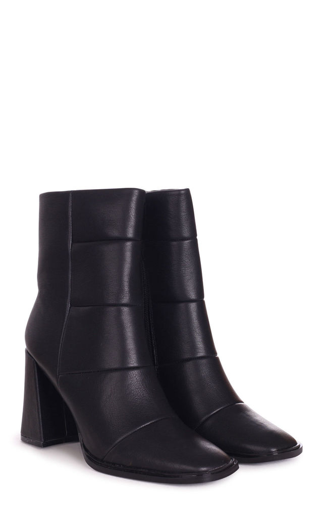 Simply Black Nappa Boot With Heel by Linzi