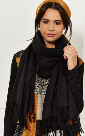 Black Fringe Scarf by Bella and Blue Product photo
