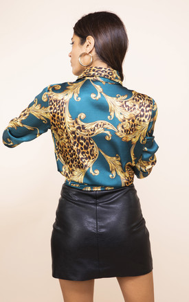 NEVADA SHIRT IN GREEN BAROQUE by Dancing Leopard