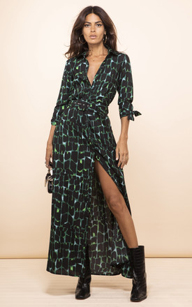 Dove Dress In Green Alligator by Dancing Leopard Product photo