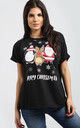 Nicole Christmas T shirt In Black by Oops Fashion
