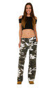 Green & White Wide Leg Camouflage Cargo Trousers by Glamour Outfitters