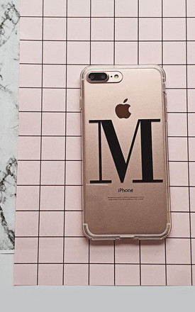 Personalised clear and black alphabet phone case by Rianna Phillips