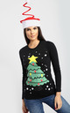 Elsie Christmas Tree T-Shirt In Black by Oops Fashion