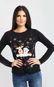 Elsie Christmas T-Shirt In Black by Oops Fashion