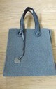 Large Grey Teddy Style Tote Bag by Olivia Divine Jewellery
