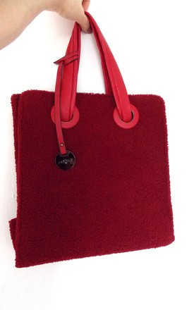 Large Red Teddy Style Tote Bag by Olivia Divine Jewellery