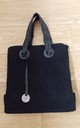 Large Black Teddy Style Tote Bag by Olivia Divine Jewellery