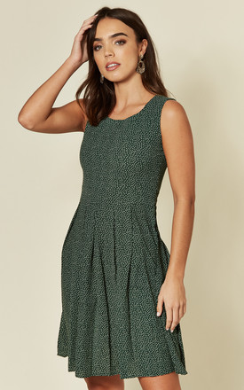 Green Polka Dot Print Skater Dress by MISSTRUTH Product photo