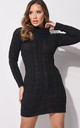 turtleneck bodycon jumper dress black by LILY LULU FASHION