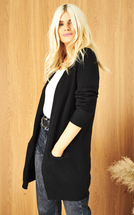 Open Front Cardigan In Black by ONLY Product photo