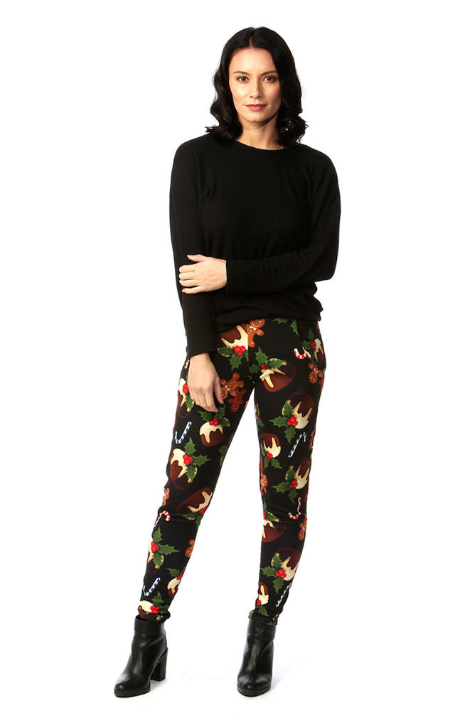 Black Pudding Christmas Trousers by Want That Trend