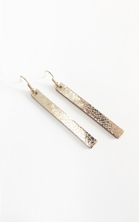 Mirror Drop Earrings Gold by Isabel Wong Product photo