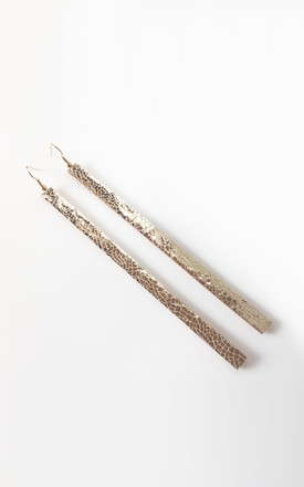 Long Mirror Drop Earrings Gold by Isabel Wong Product photo