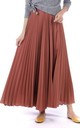 Crepe Pleated Maxi Skirt in Dusty Pink by JOLIE MOI