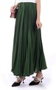 Crepe Pleated Maxi Skirt in Green by JOLIE MOI