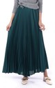 Full Circle Crepe Pleated Maxi Skirt in Teal by JOLIE MOI