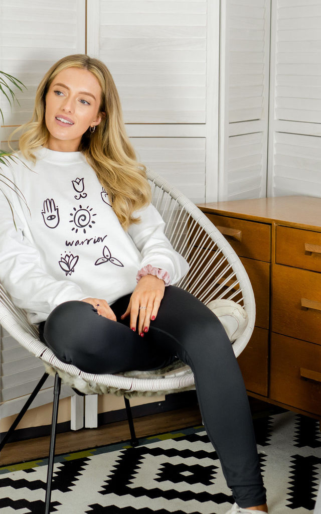 WARRIOR YOGA SWEATSHIRT by Rock On Ruby