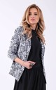 Black and white panter blazer with pockets by Bergamo
