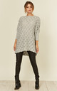 Leaf Weave Loungewear Jumper with Long Sleeves in Grey by URBAN TOUCH