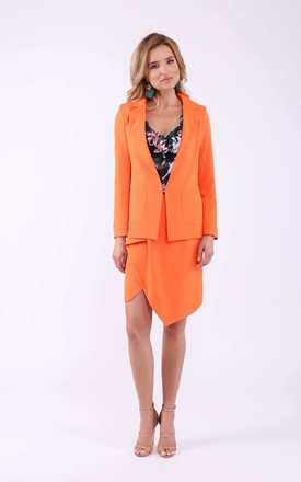 Orange panter blazer with pockets by Bergamo