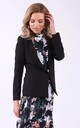 Black blazer with pockets by Bergamo