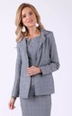 Grey checked blazer with pockets by Bergamo